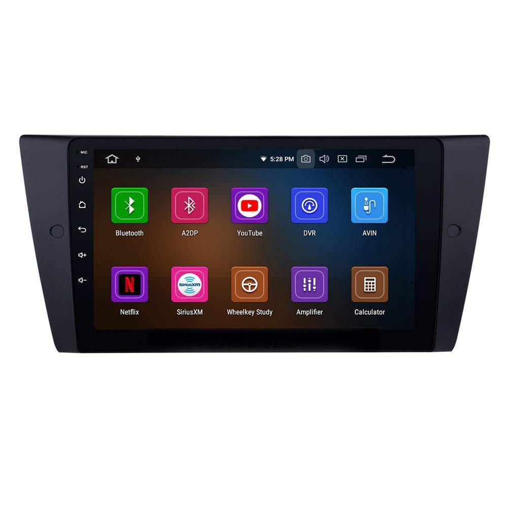9 polegadas estéreo Android 9,0 Touchscreen GPS Navi carro para o BMW Série 3 2005-2012 com Wi-Fi Bluetooth Música USB Suporte DAB SWC DVR