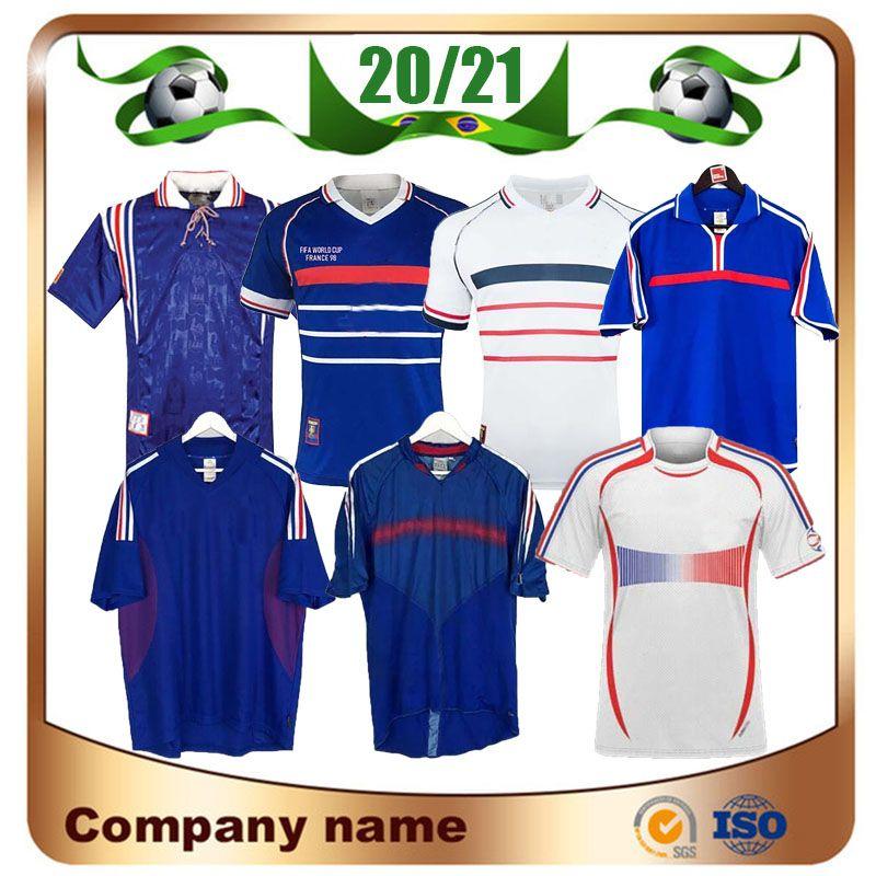 1998 Retro versão FRANÇA camisa de futebol 96 98 02 04 06 ZIDANE HENRY MAILLOT DE PÉ Futebol camisa do uniforme 2000 de futebol Início Trezeguet