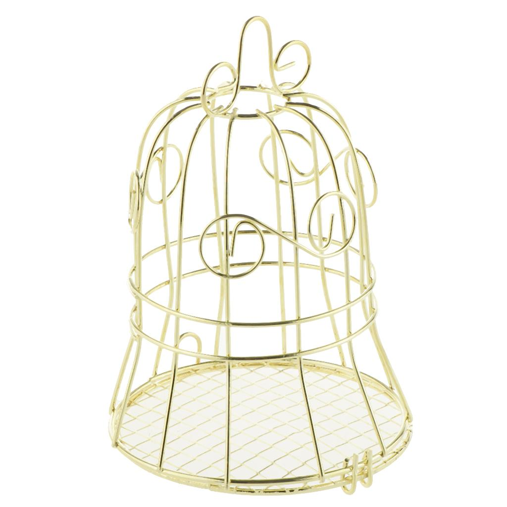 Gold Iron Bell Wedding Tin Bar Metal Birdcage Candy Box Baby Shower Birthday Party Gift Favors
