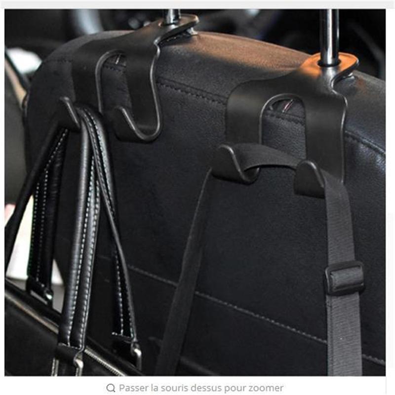 Alta Qualidade New Car portátil gancho banco traseiro duplo gancho Veículo Invisível multifunções prático Supplies Hooks viaturas