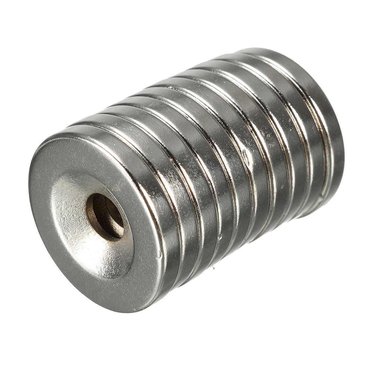 10pcs N35 20x3mm avellanados anillo imanes con 5mm Agujero fuerte imán de neodimio de disco