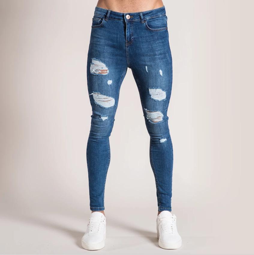 kot pantolon disel Sıkıntılı Skinny Hiphop Pantolon Yıkanmış Tahrip sökük Sleenker DK Skinny Sıkıntılı Jeans Slim Fit Biker Kot Pantolon