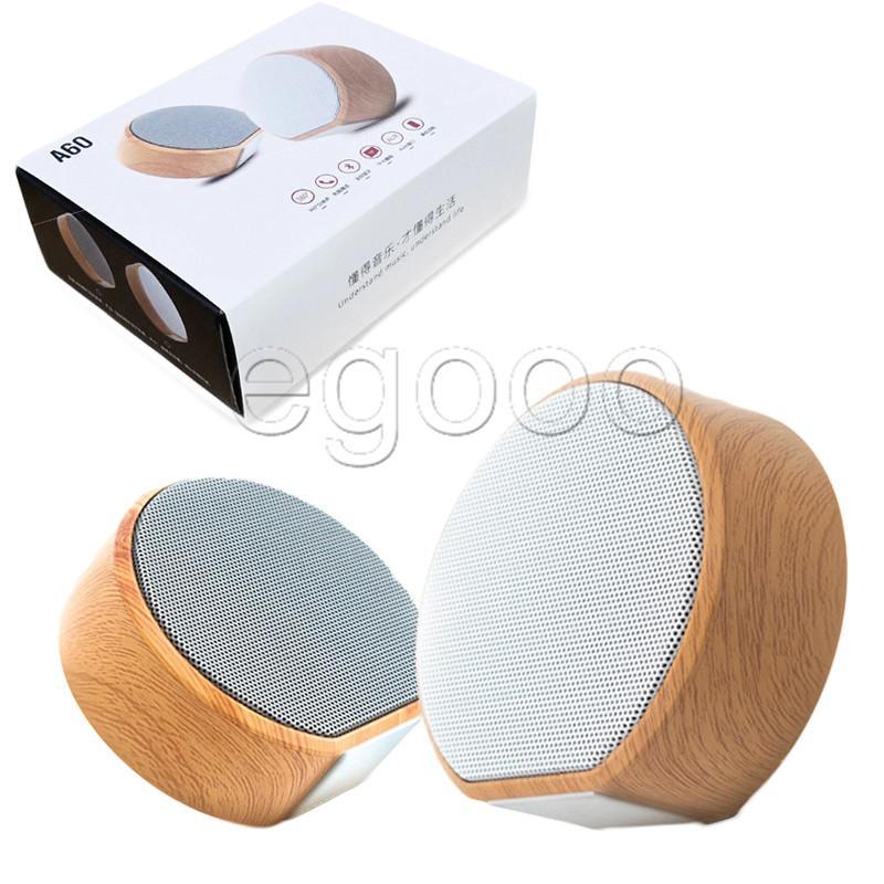 Auto A60 Holz Bluetooth Lautsprecher beweglichen drahtlose Subwoofer-MP3-Player FM Radio Audio-TF-Karte USB-Wiedergabe Freisprechen im Freien hölzernen