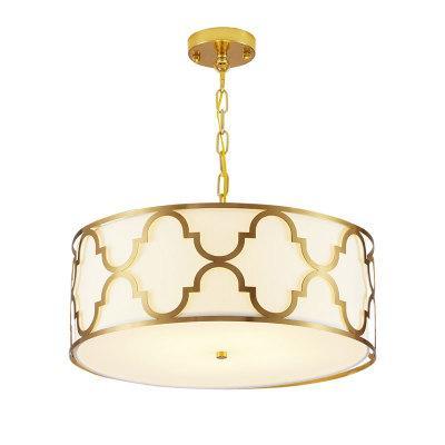 lámpara de techo moderna nueva sala de estar comedor chino lámpara del dormitorio de los países de América nórdica estilo minimalista lámpara de cobre