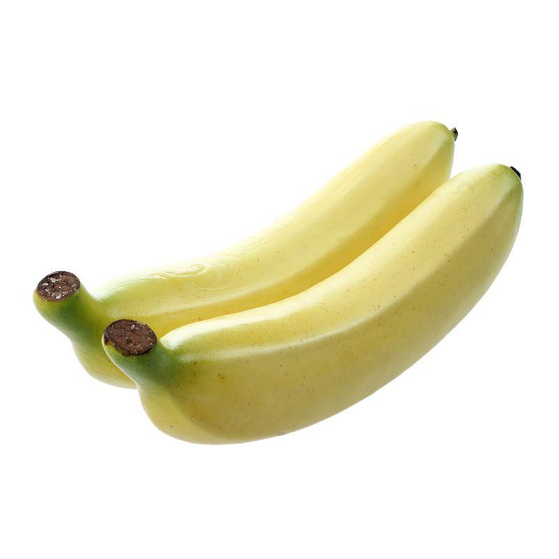 Dos grandes plátanos fruta artificial decorativo