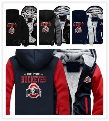2019 2019 Winter Hoody Ohio State Buckeyes Football Team Men Women Warm Hoodies Autumn Clothes Sweatshirts Zipper Jacket Fleece Hoodie Streetwear From