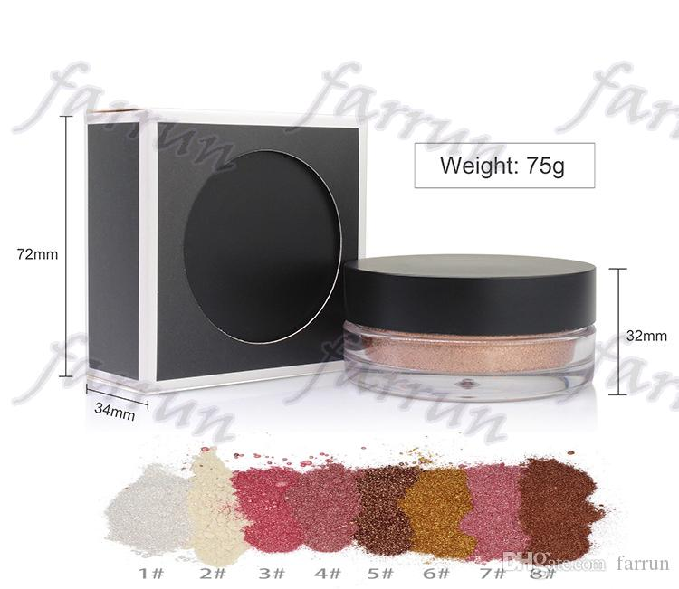 new arrive no logo single color eyeshadow loose powder accept private label 8 color choice personal makeup 72*72*34mm,net weight 10g