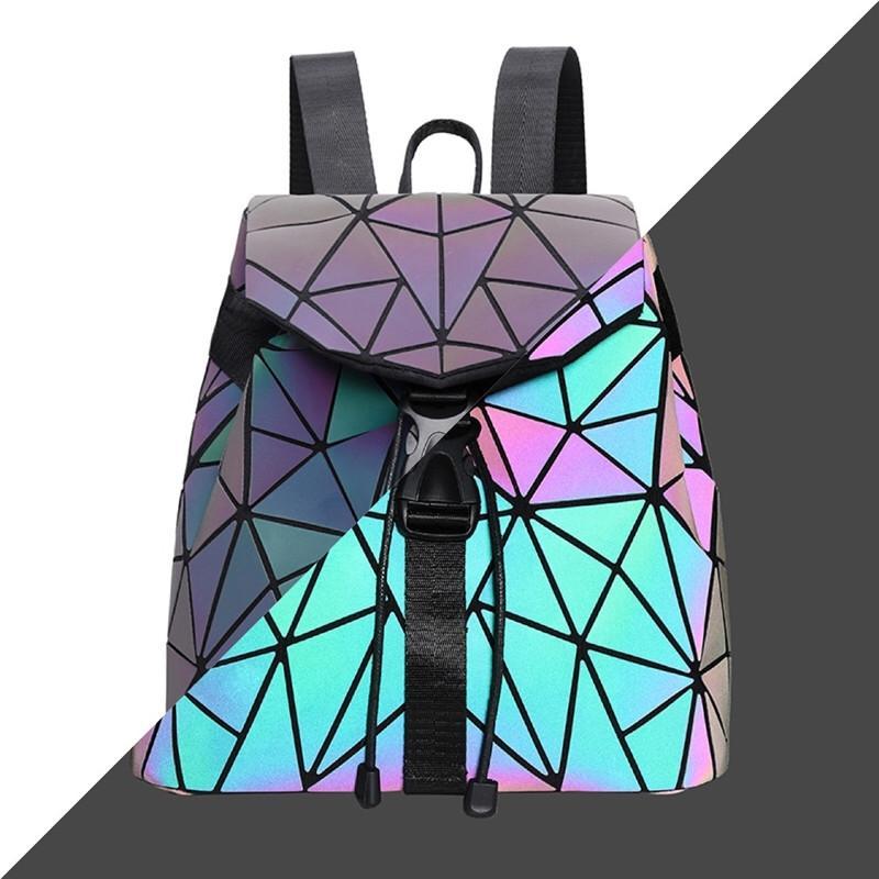La más nueva de gran capacidad de alta calidad famosa marca de diseñador de moda Señora Casul hombro de los bolsos de las mujeres Mochila geométrica 8890 # 726