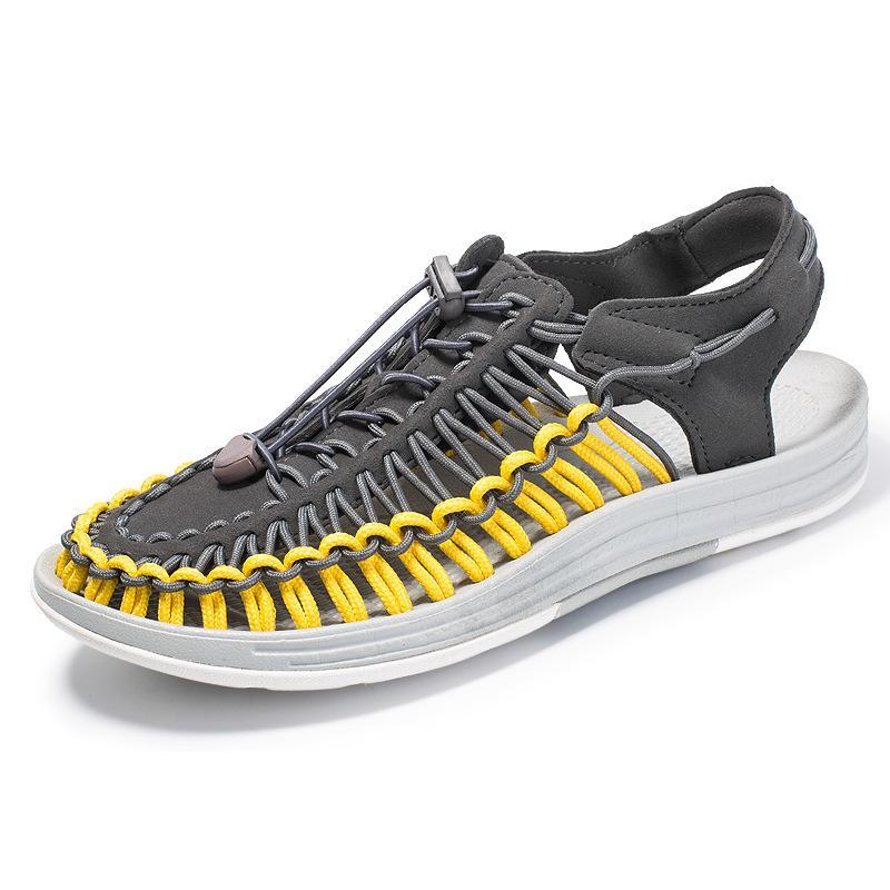 Горячие продажи- популярные сандалии мужчин случайные сандалии вязаные большой размер рим обувь для человека летом на открытом воздухе обувь пара обуви унисекс обуви гладиаторов zy329