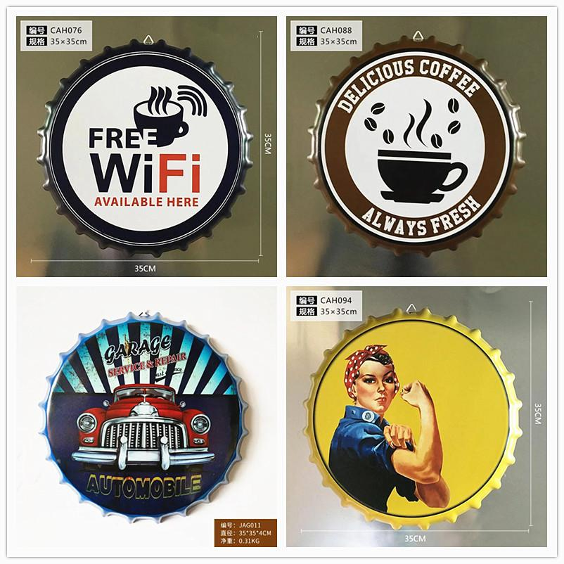 4PCS Home living room decorate retro creative license plate metal painting bar decoration three-dimensional wall decorate pendant wall decor