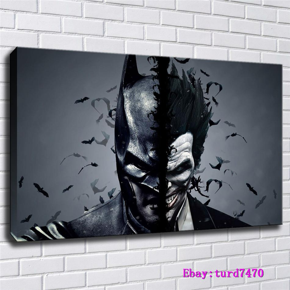 Batman and Joker,1 Pieces Canvas Prints Wall Art Oil Painting Home Decor (Unframed/Framed) 24x36.