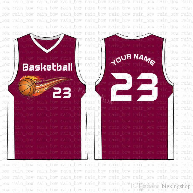 2019 New Custom pallacanestro Jersey Mens di alta qualità il trasporto libero marchi del ricamo 100% superiore cucita sale04
