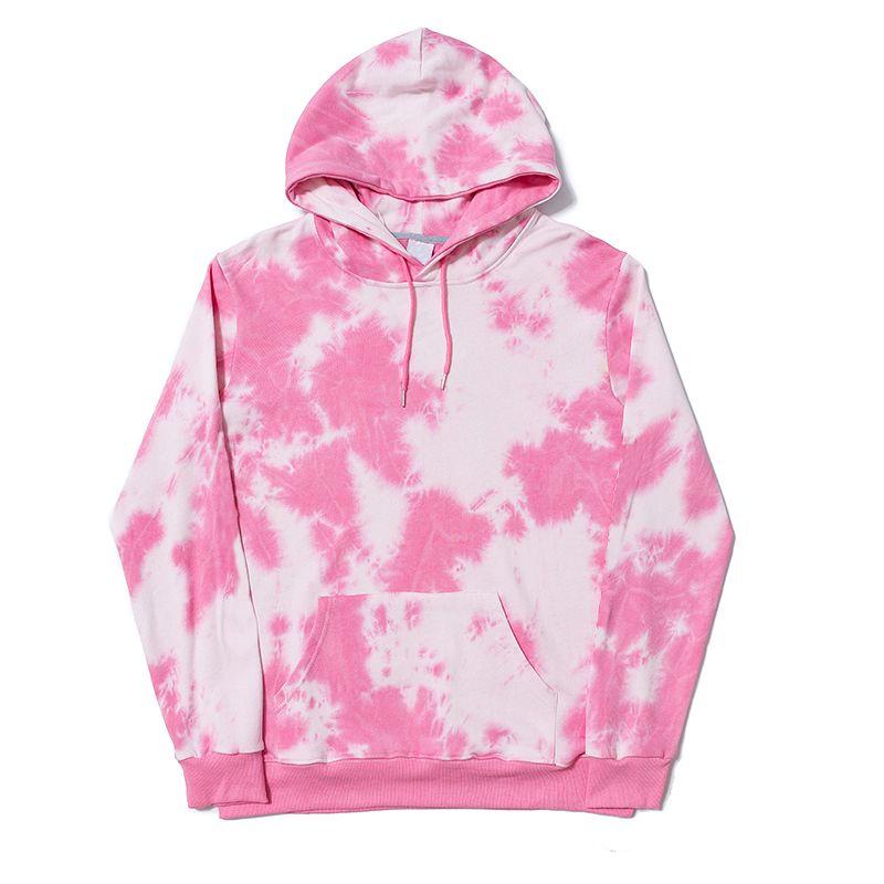 Nuevos color rosa Plume amantes diseñador de moda con capucha Hombres Mujeres camiseta de las sudaderas con capucha Parejas de lujo de alta calidad de impresión de manga larga B103622V