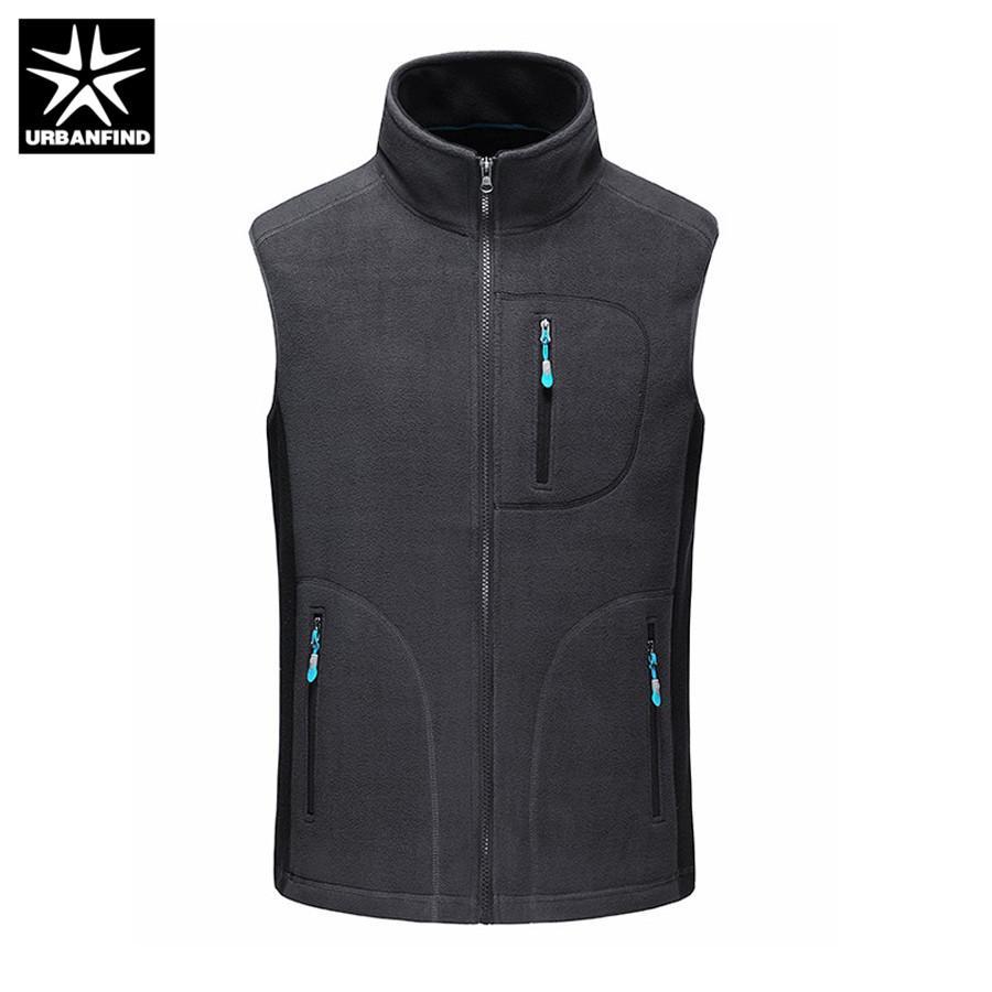 URBANFIND erkek Sonbahar Kış Polar Softshell Yelekler Sıcak Yelek Erkek Rahat Kolsuz Dış Giyim Ceket Erkek Marka Giyim