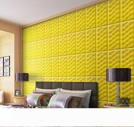 Wall Panel Wall Sticker Borsa morbida 30 * 60 pannelli XPE 3D decorativo in pelle di cuoio della parete fai da te Schiuma impermeabile carta da parati per i bambini