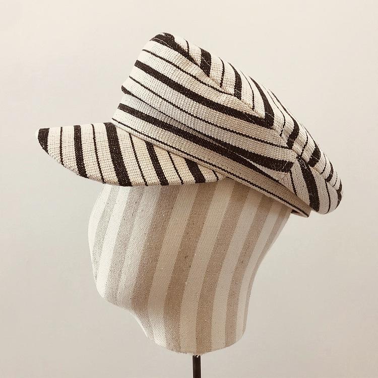 202003-Xintao rayures nouvelles visières ligne printemps d'argent casquette hommes femmes casquette de baseball