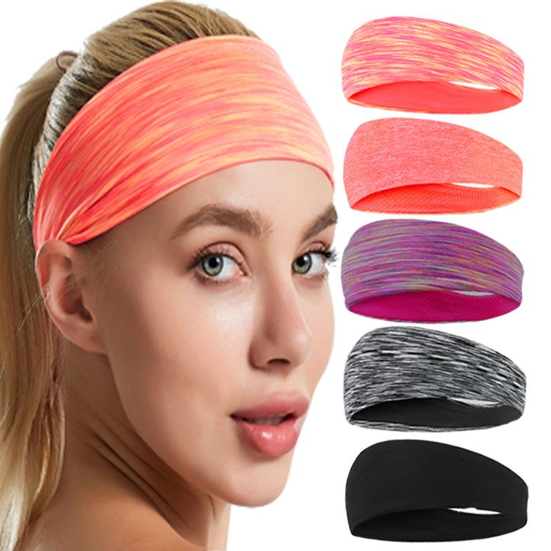 New Sweatband High-elastic Yoga Headband Sports Hair Band Women Cotton Knotted Turban Head Warp Hair Band Wide Elastic Headband Sport