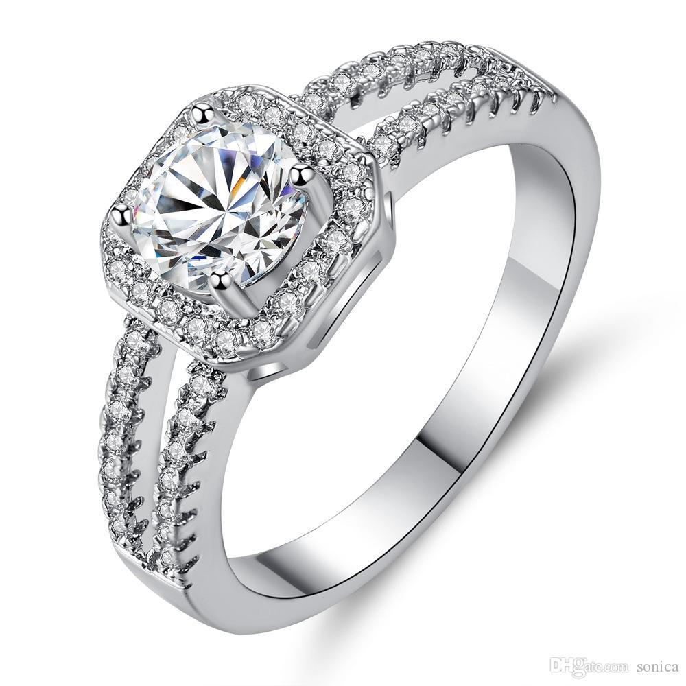 Acheter / CZ Bague En Diamant Et Boîte Dorigine Fit Le Style Pandora Bague  De Mariage Bague De Fiançailles Bijoux Pour Femmes Accessoires De Mode ...
