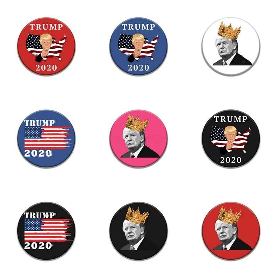 Presente da enfermeira Scurb Life Crystal retrátil Trump Emblema Reel Para Id cartão conhecido emblema Trump titular com clipe jacaré # 595