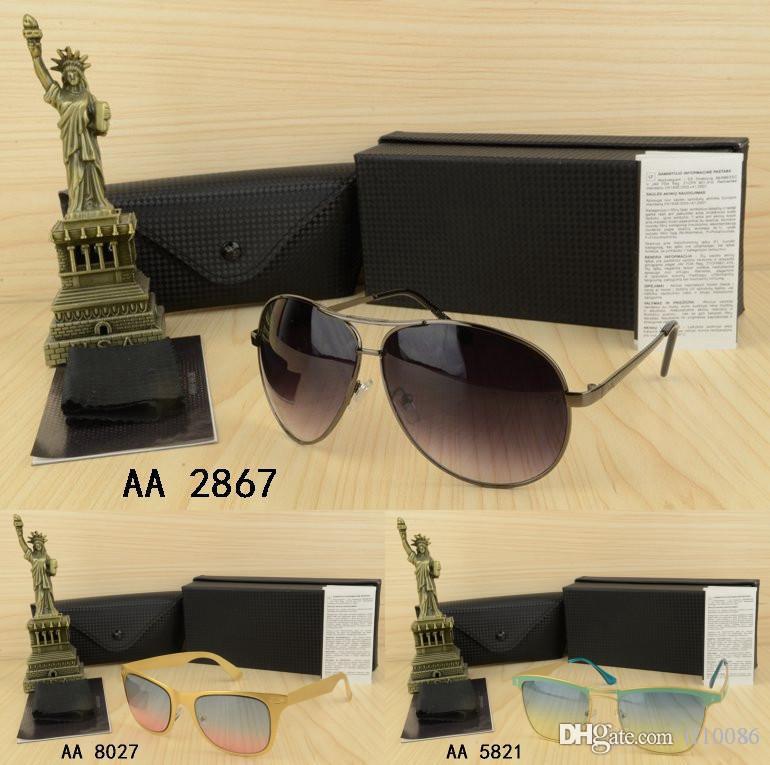 Бренд мужские или женские солнцезащитные очки Metal Half Frame летние спортивные на открытом воздухе мужские и женские футляры Pilot Eyewear Shades lunette f