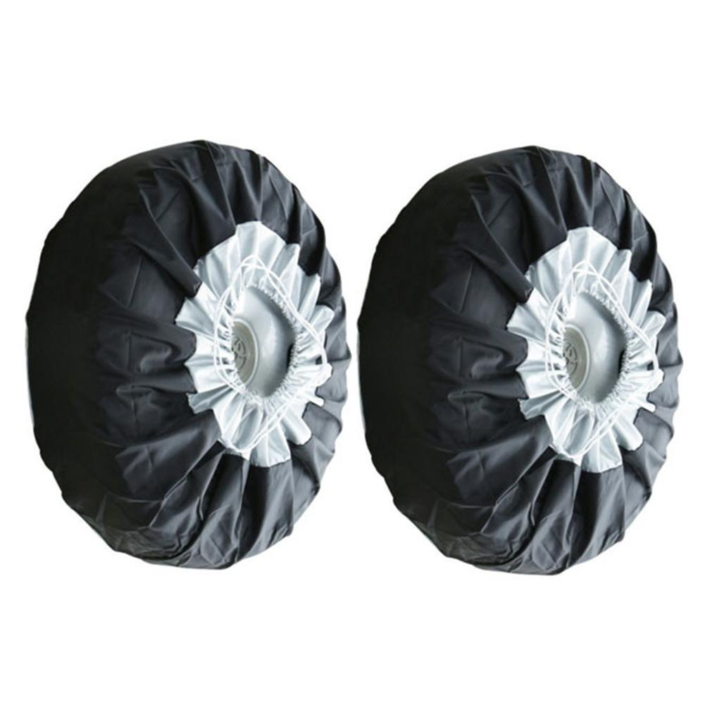 1 /2 /4pcs Uv -Proof Tyre Spare Cover Elastic Tire Case Wheel Protective Vehicle Car Lightweight Waterproof Storage Bags Dust -Proof