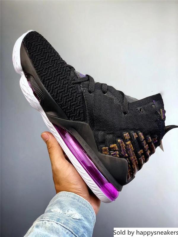 Аутентичные Леброн Лейкерс баскетбольная обувь для мужчин черный белый баклажан Amarillo Battleknit 2.0 BQ3177-004 Bq3177-002 кроссовки с коробкой