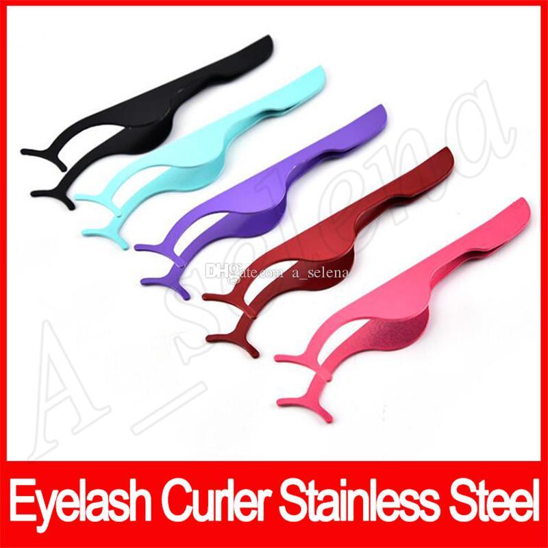 Outils de beauté cil multifonctions en acier inoxydable recourbe cils Eye Bigoudis Faux Cils Curling maquillage Clip cosmétique outil Livraison gratuite