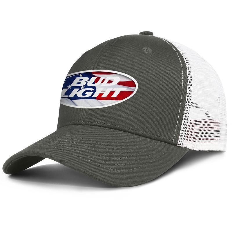 Busch Bud Light Beer Estados Unidos White flag Sterescopic Americana para los hombres y las mujeres del camionero ajustable TAPAMALLA diseñar claro lindo en blanco