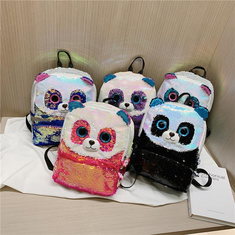 Creative personality sequins parent-child adult schoolbag children backpack