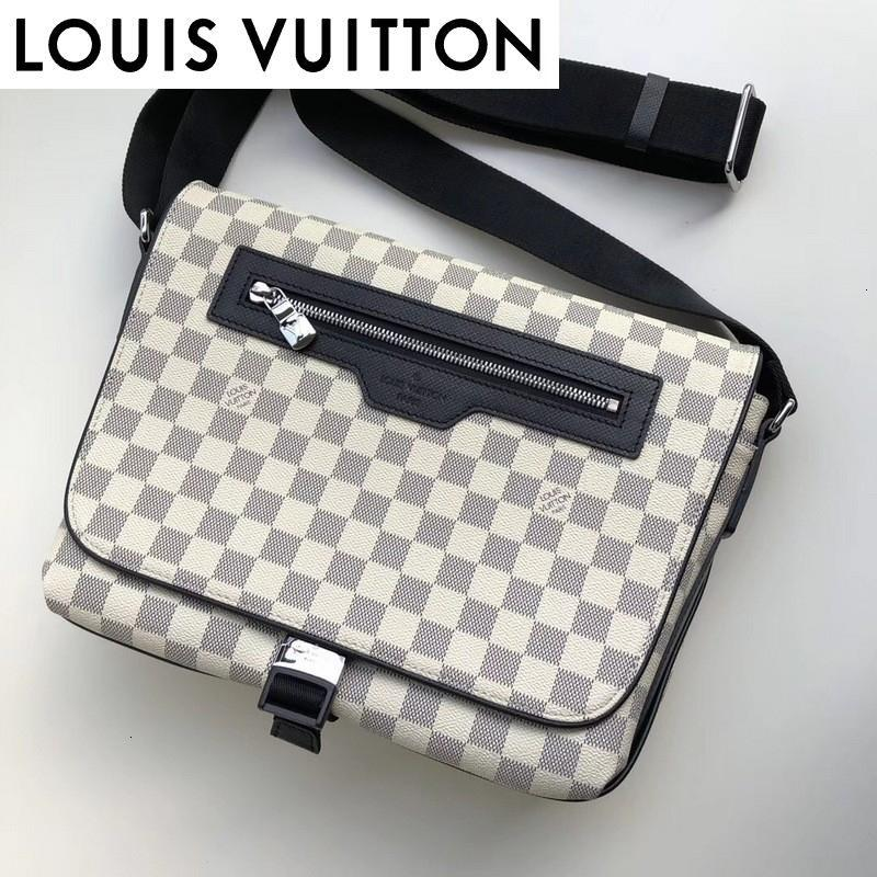 أكياس حقيبة الكتف huweifeng1 الأزياء الكلاسيكية الأبيض N40019 MEN الظهر keepall لBAGS BUSINESS حمل رسول SOFTSIDED LUGGAGE ROLLING BAG
