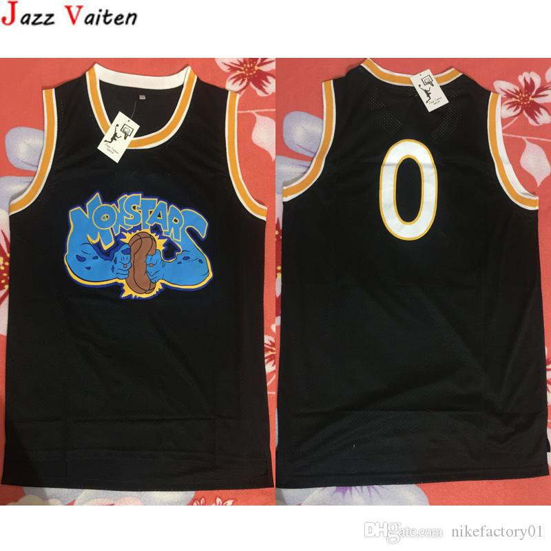 Película Monstar Baloncesto Jersey Men's Street HiPHOP 0 # Camisa alienígena Sport Sport Bordery Jersey Wears