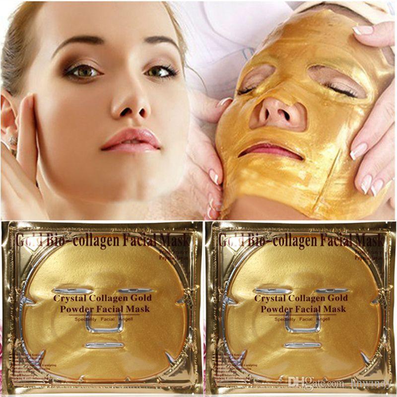 Dropshipping Gold Bio-Collagen Facial Mask Crystal Gold Powder Collagen Facial Mask Moisturizing Anti-aging Face Mask