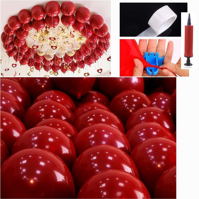50 جهاز كمبيوتر شخصى اللون الأحمر بالونات حفل زفاف لعب الاطفال البالونات وصول جديد التصوير ديكور عالية الجودة للنفخ الهواء كرات الجديد