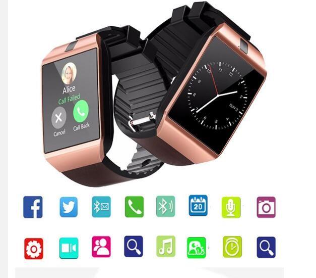 DZ09 블루투스 스마트 시계는 수면 상태 Smartwatch를 기록 할 수 있습니다 지능형 휴대 전화 시계 스마트 시계 SIM을 안드로이드