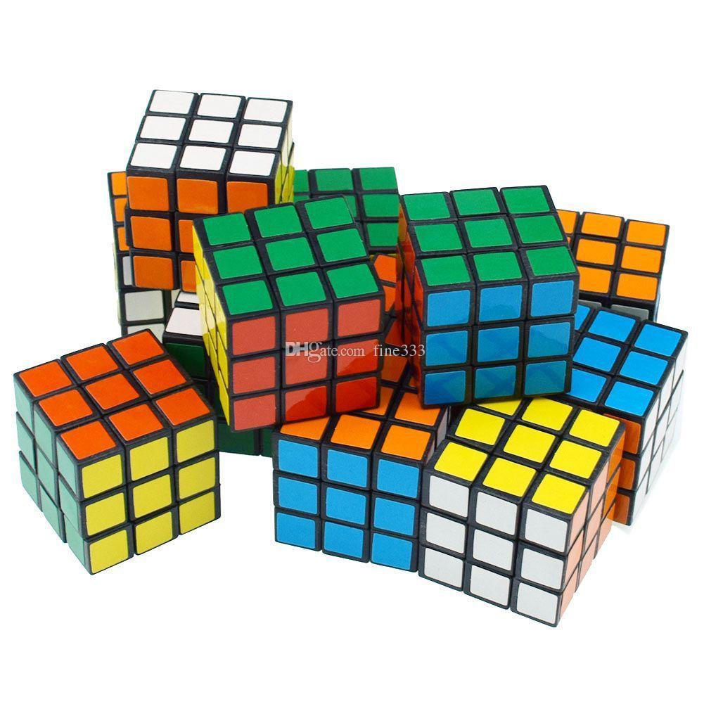 D-FantiX 사이클론 소년 미니 핑거 3x3 스피드 큐브 스티커가없는 손가락 매직 큐브 3x3x3 퍼즐 장난감 도매