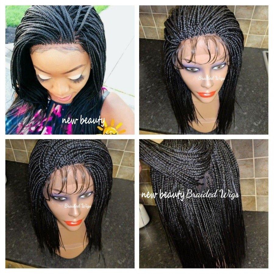 Breve Bob parrucca sintetica parrucche del merletto Donne Per africano nero della parte anteriore africano intrecciatura scatola Trecce con i capelli del bambino termoresistente