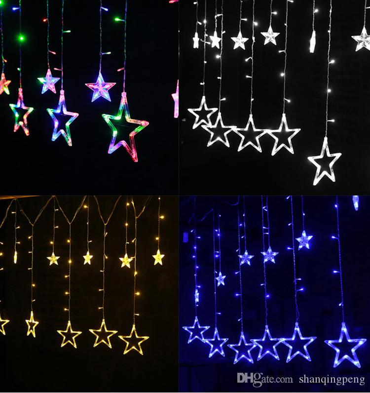 New Christmas lED Lantern Christmas Five-pointed Star Lights Beautiful Christmas Decorations Wholesale (220v Plug-in) 4 optional