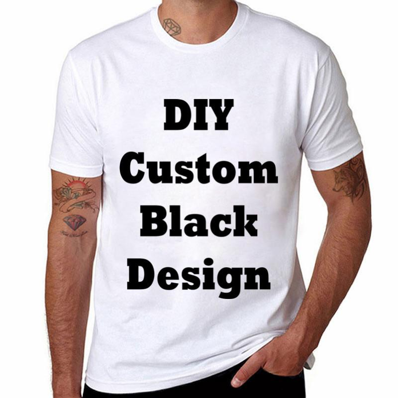 3pcsLytlm Print Your Own Design/logo/picture Customized T Shirt Men Combed Diy White Shirt Men Hip Hop Men Oversized T-shirts C19041101