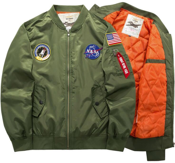 Новый NA-SA Flight Pilot мужские куртки стилиста бомбардировщик Ma-1 бомбардировщик куртка ветровка вышивка Бейсбол военная секция мужская куртка