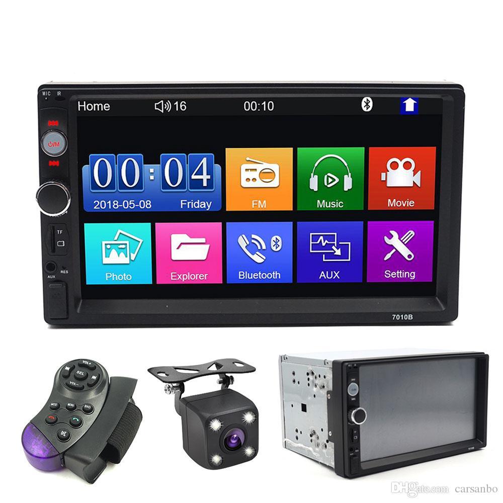 2 الدين راديو السيارة 7 شاشة HD Autoradio الوسائط المتعددة لاعب 2DIN لمس ستيريو السيارات السمعية سيارة MP5 بلوتوث USB TF FM كاميرا