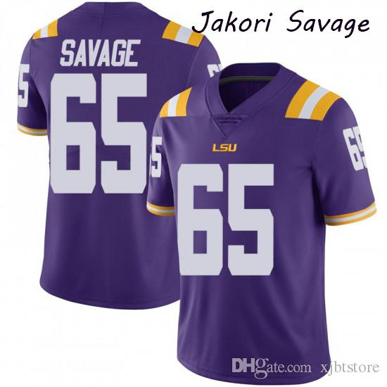 Juventude Jacob Phillips LSU Tigers Jamarr perseguição Jamal Pettigrew Jakori Savage Jacoby Stevens College Football Jersey