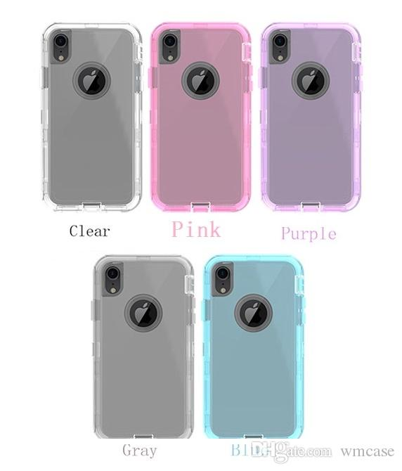 iPhone X XS MAX XR 7 8 Plus Samsung S8 S9のための透明頑丈な防御側ケースの衝撃透明ハイブリッドバックカバー