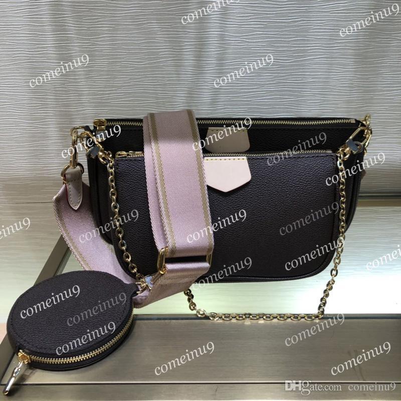 Le donne all'ingrosso multi colore cinghie borsa crossbody bag 44840 3 pezzi set borse a tracolla preferiti borsa pochette rotonda messenger 44823 Nave libera
