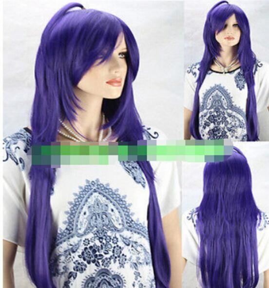 FREE SHIPPING+ ++ New Cosplay Sexy Fashion Purple Women's Wavy Long Wig