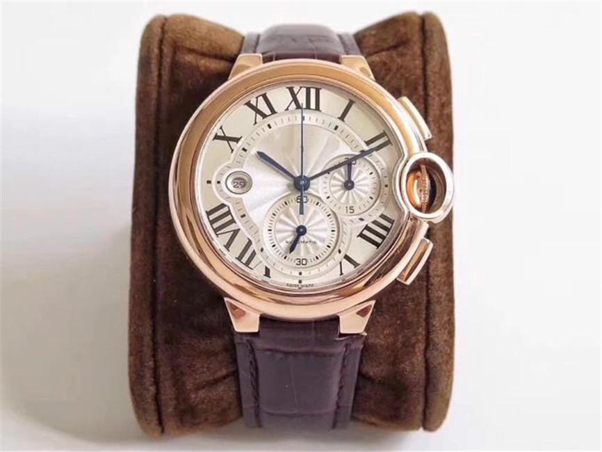 Это превосходное мастерство 7750 механизм 44mmX15. 8mm дизайн высококачественных многофункциональных часов автоматические механические алмазные часы