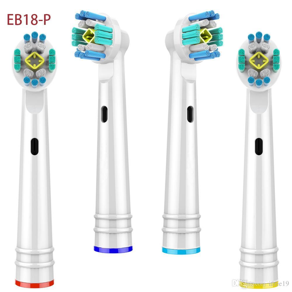 براون عن طريق الفم فرشاة الأسنان الكهربائية رئيس بيع عالية الجودة الأسنان العناية بالفم فرشاة استبدال رؤساء المدعم 4PCS / حزمة EB17-P