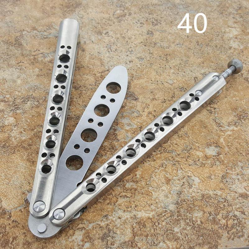 الكلاسيكية balisong فراشة bm40 BM42 bm43 bm47 يست حادة مدرب سكين 440 شفرة مقبض سكين التيتانيوم هجر أو نبذ الحبيب