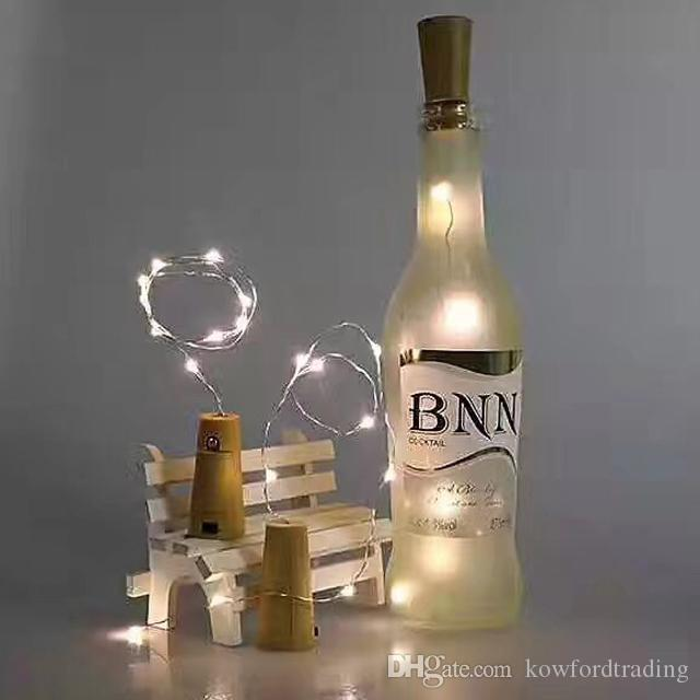 button lamp 2M 20LED Cork Shaped Bottle Stopper Light Glass Wine LED Copper Wire String Lights For Party Wedding Decoration