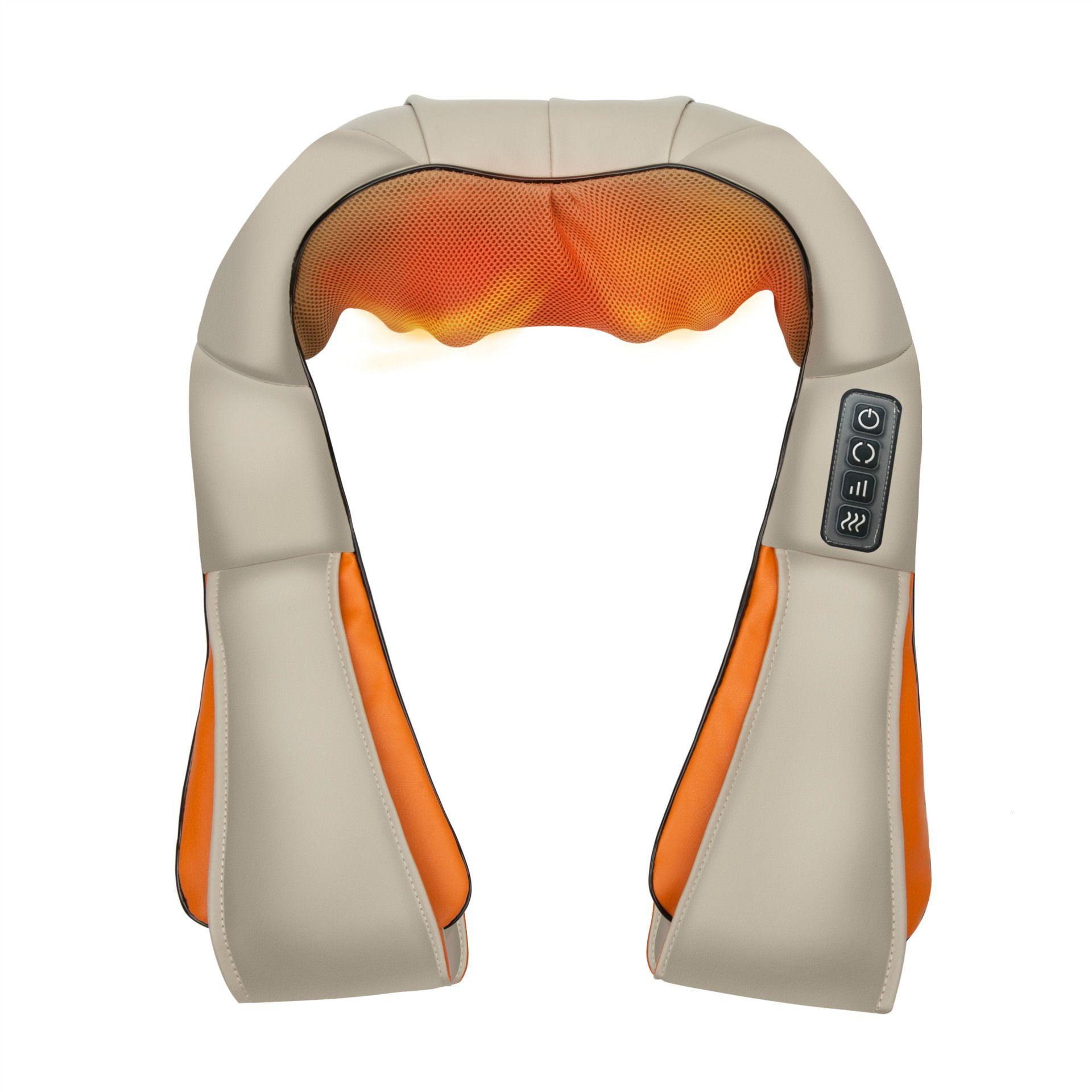 Início Car U Forma Elétrica Shiatsu Voltar Neck Shoulder Corpo rolo dor Massageador infravermelho aquecida Amassar Car / Home Massagem T191101