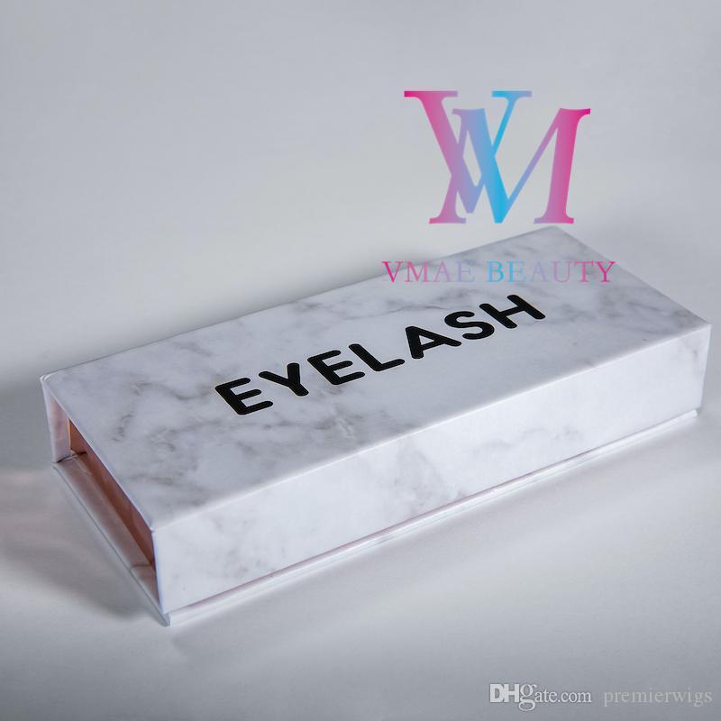 Mink cílios real 22-25mm 5D longo macio do 3D Mink Lashes Private Label Mink olho Lash Com Padrão Marble pestana Gift Packaging Box